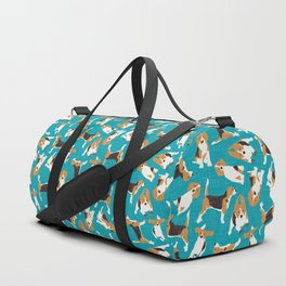 beagle scatter blue Duffle Bag