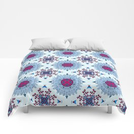 blue and red pattern Comforters