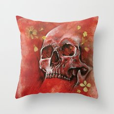 Red Vanity Throw Pillow