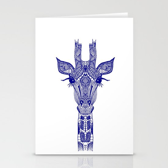 GIRAFFE BLUE Stationery Cards