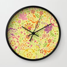 Oriental Blooms Wall Clock