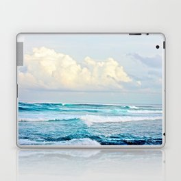 Blue Water Fluffy Clouds Laptop & iPad Skin