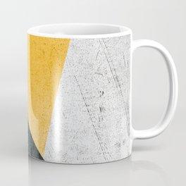 Modern Yellow & Black Geometric Coffee Mug
