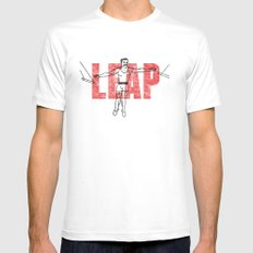 LEAP Mens Fitted Tee MEDIUM White