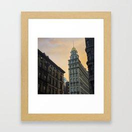 Historic New York Sunset Framed Art Print