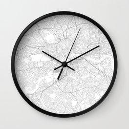 London, England Minimalist Map Wall Clock