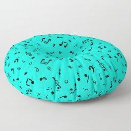 Music Notes & Symbols Sea Foam Floor Pillow