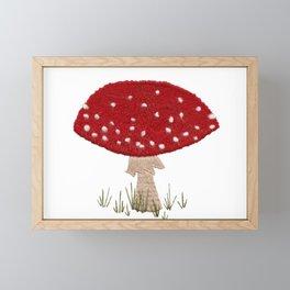 Toadstool Embroidery Framed Mini Art Print