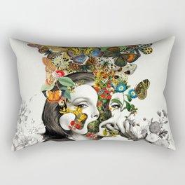 Butterfly Woman Rectangular Pillow