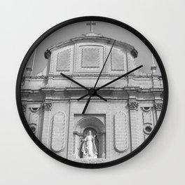 The Old Church BW  Wall Clock