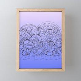 zen composition with mandalas waves Framed Mini Art Print