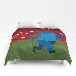 Football art minimalist Comforters