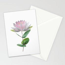 Lotus flower. Water lily. Modern plant abstract Stationery Cards
