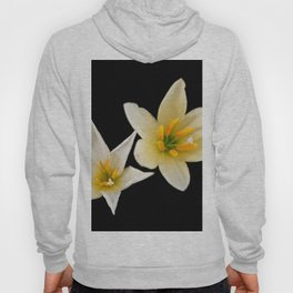 White flowers with black Hoody
