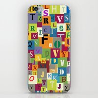 alphabet iPhone & iPod Skins featuring Alphabet by Rceeh