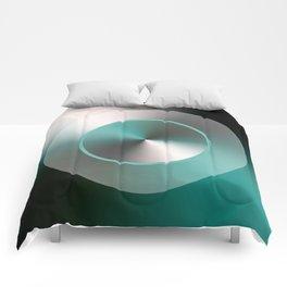 Serene Simple Hub Cap in Aqua Comforters