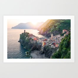 An Evening In Cinque Terre - Vernazza Art Print
