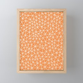 Connectivity - White on Orange Framed Mini Art Print