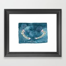 i love you much Framed Art Print