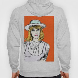 Pauline on Orange Hoody