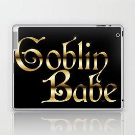 Labyrinth Goblin Babe (black bg) Laptop & iPad Skin