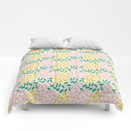 Field of lines in pastel Comforters
