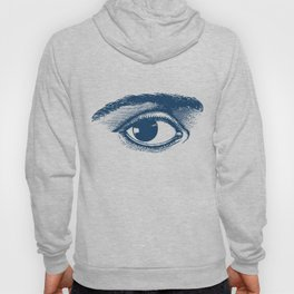 I see you. Navy Blue on Cream Hoody