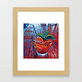 Pimm's Cup Framed Art Print