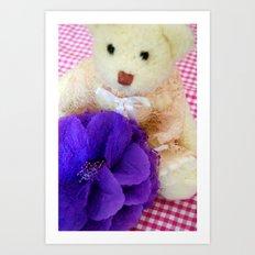 The white vintage bear Art Print
