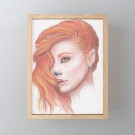 Fox Girl Framed Mini Art Print