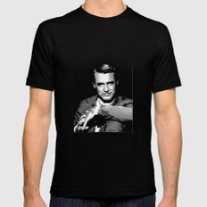 Cary Grant Blue Mens Fitted Tee Black MEDIUM