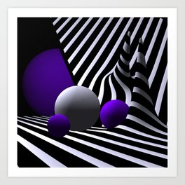games with geometry -7- Art Print