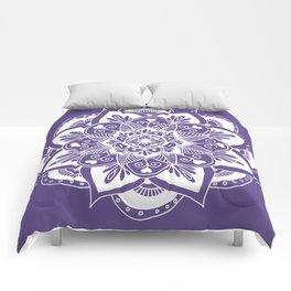 Ultraviolet Flower Mandala Comforters