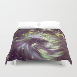 Twisted Time - Black Hole Effects Duvet Cover