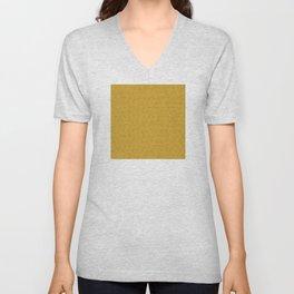 Yellow Gold Très Petit Geometric Pattern Unisex V-Neck