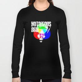 Funny Graphic Design Unisex Shirt Notorious RGB Long Sleeve T-shirt