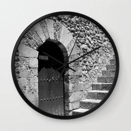 A door in Taormina, Sicily Wall Clock