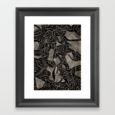 - cosmophobic cow - Framed Art Print