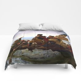 Washington Crossing The Delaware River Comforters