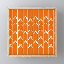 Oat Field Leafy Orange Pattern Framed Mini Art Print