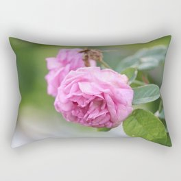 Pink Roses Rectangular Pillow