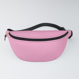 Bright Chalky Pastel Magenta Solid Color Fanny Pack