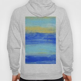Relaxing Beach Aqua Turquiose Nautical Abstract Art Hoody