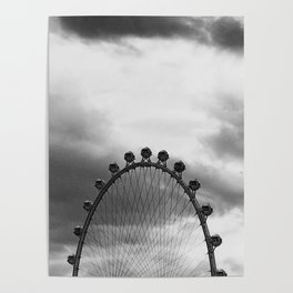 Back Side of the Link // London Eye Replica in Las Vegas Nevada City Strip Raw Landscape Poster