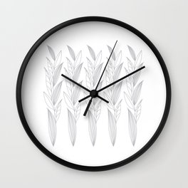 Eternity in Silver Leaf II Wall Clock