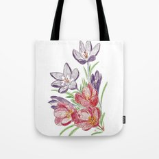 Purple and red dry flowers Tote Bag