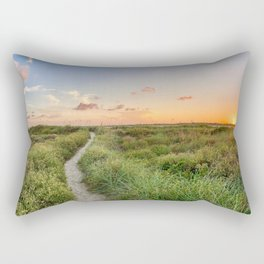 Trail to the hidden beach Rectangular Pillow