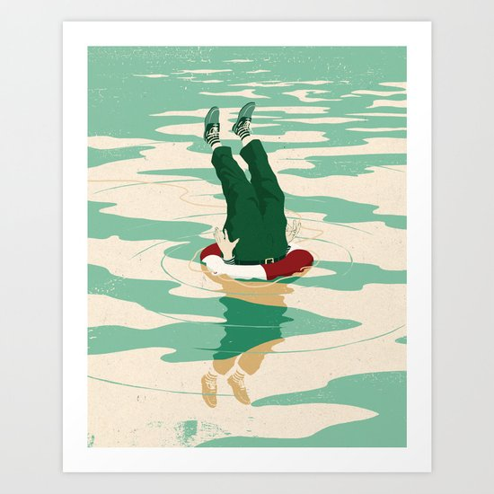 When helping goes bad Art Print