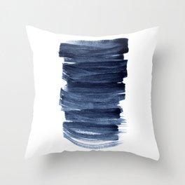 Just Indigo 3 | Minimalist Watercolor Abstract Throw Pillow