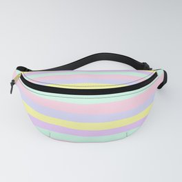 lumpy or bumpy lines abstract - QAB283 Fanny Pack